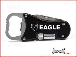jeep amc logo amc eagle lasered logo keyring pocket knife led torch