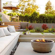Modern Firepit Tour A Bright L A Home With Simple Modern Style Outdoor Pool