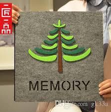 Adhesive Photo Album 2017 The New Tree Diy Register Baby Grow Big Album Paste Type