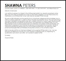 cover letter examples for human resources best training and