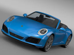 blue porsche 2016 porsche 911 carrera 4 cabriolet 991 2016 3d model max obj 3ds fbx