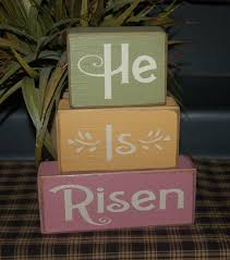 easter religious decorations he is risen religious easter primitive word by simpleblocksayings