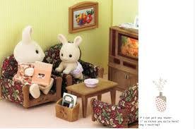 Aliexpresscom  Buy  Genuine Retro Sylvanian Families House - Sylvanian families luxury living room set