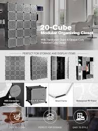 amazon com langria 20 storage cube organizer wardrobe modular