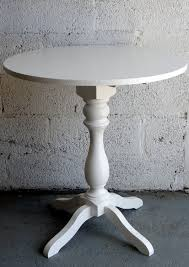 Turned Pedestal Bistro Table Round Bistro Tables With Turned Pedestal Base