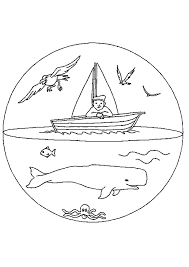 coloriage mandala baleine bateau sur hugolescargot com