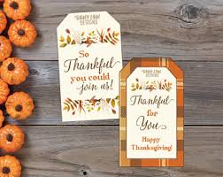thanksgiving favor etsy