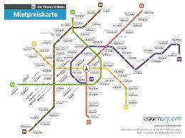 Immobilienanzeigen Wiener U Bahn Mietpreiskarte Wien