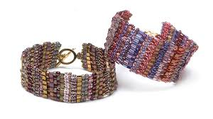 beaded cuff bracelet patterns images Beaded brick stitch bracelet facet jewelry making jpg