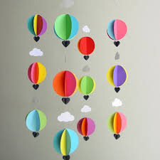 Nursery Decor Cape Town The Whimsical Air Balloon Paper Mobile Is Beautifully Handmade