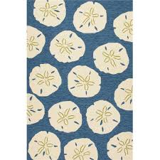 Coastal Indoor Outdoor Rugs Living Indoor Outdoor Area Rug Sand Dollar Navy And White