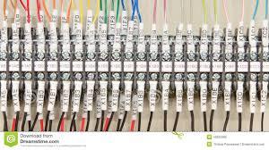 wiring plc stock photo image 43603385
