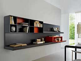 Floating Bookcases Decoration Ideas Fabulous Laminated Black Wall Mounted Bookcase