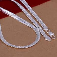 silver chain necklace snake images Statement necklaces snake chain 925 silver mens necklace fashion jpg