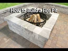 How To Build A Cheap Patio How To Build A Square Fire Pit Youtube