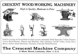 Woodworking Machinery Suppliers Association Limited by Crescent Machine Co History Vintagemachinery Org