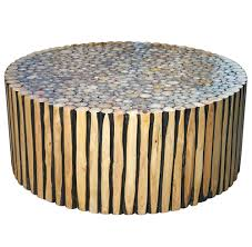 reclaimed wood round coffee table reclaimed wood round coffee table cfee with bluestone top zinc strap