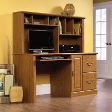 Sauder Office Desks Oak Computer Desk With Hutch Orchard 401354 Sauder