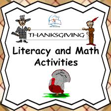thanksgiving literacy and math activities by