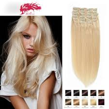 clip extensions clip in hair extensions color 60 clip in human hair