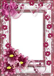 photo frame beautiful flower transparent frame with pink bow gallery