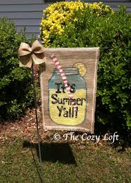 halloween yard flags lemonade it u0027s summer y u0027all country mason jar burlap garden flag