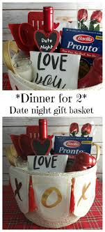 date gift basket dinner for two date gift basket