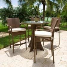 Rattan Patio Table And Chairs Outdoor Wicker Bar Stools Foter