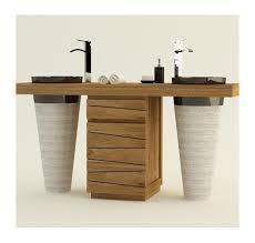 meuble de salle de bain original meuble de salle de bain bois meuble de salle de bain teck le