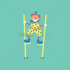 clown stilts clown walking on stilts vector image 1956737 stockunlimited