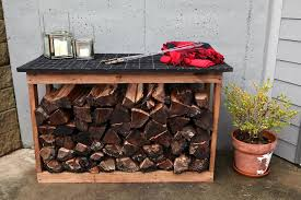 Outdoor Firewood Storage Rack Plans by Wood Racked Bower Power