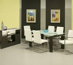 pastel skyline white glass dining room set w monaco chairs