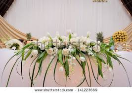 Flower Table Wedding Table Flower Decoration Stock Photo 141223669 Shutterstock