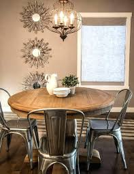 farmhouse table with metal chairs round farmhouse dining table and chairs build a round farmhouse