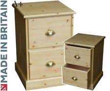 Pine Filing Cabinet Filing Cabinet Solid Wood Pine Home Office 2 Drawer A4 Suspension
