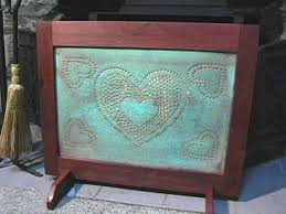 how to make a copper fireplace screen hgtv