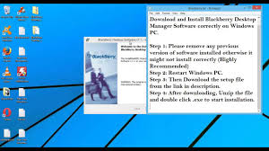 reset blackberry desktop software blackberry desktop manager download install software windows