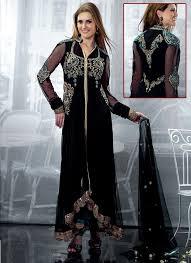 indian anarkali dresses black designers wedding indian