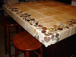 riverstone and travertine custom 4 u0027x4 u0027 kitchen island countertop