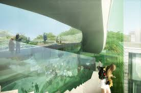 glass pavilion gallery of competition entry saucier perrotte designs glass