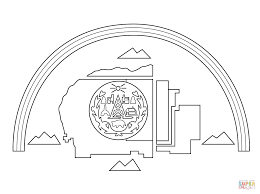 navajo nation flag coloring page free printable coloring pages