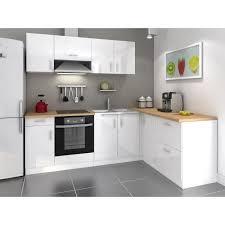 cuisine blanc laqué meuble cuisine blanc cuisine en image