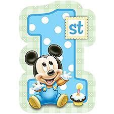 mickey mouse 1st birthday mickey mouse 1st birthday invitations w envelopes