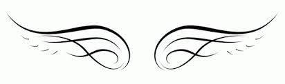 simple wings idea tattoos