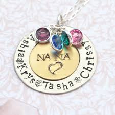 Personalized Necklaces For Her Grandma Necklaces Loveitpersonalized Artfire Shop