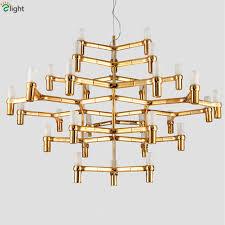 Brass Ceiling Lighting Nemo Crown Major Led Chrome Pendant Chandelier Nordic Minimalism