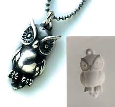 owl jewelry necklace images Pmc silver clay jewelry push mold owl pendant mould jpg