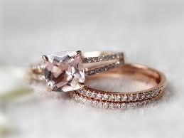 morganite bridal set 20 top engagement rings from etsy morganite bridal set bridal