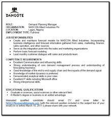cover letter demand planner position download page u2013 best resume