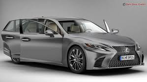 lexus paper sedan lexus ls 500 2018 3d model in sedan 3dexport